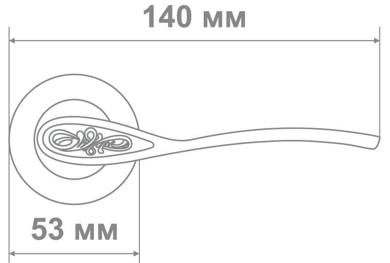 Ручка Локер 55284 CR/SS никель (20 шт.)