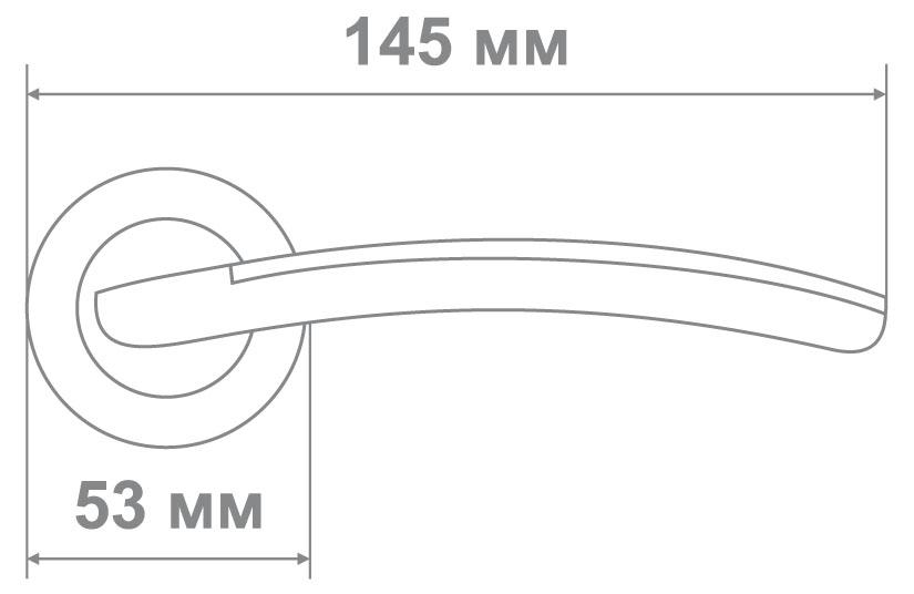 Ручка Медио 41D SC/CP мат.хром/хром (10 шт)