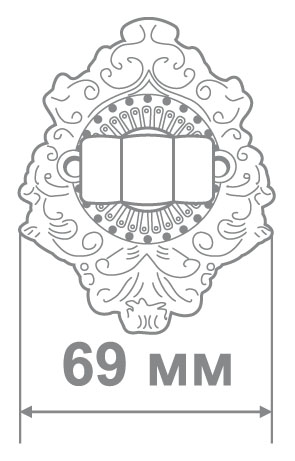 Накладка Аделли BAT66 Chrome хром (50 шт)