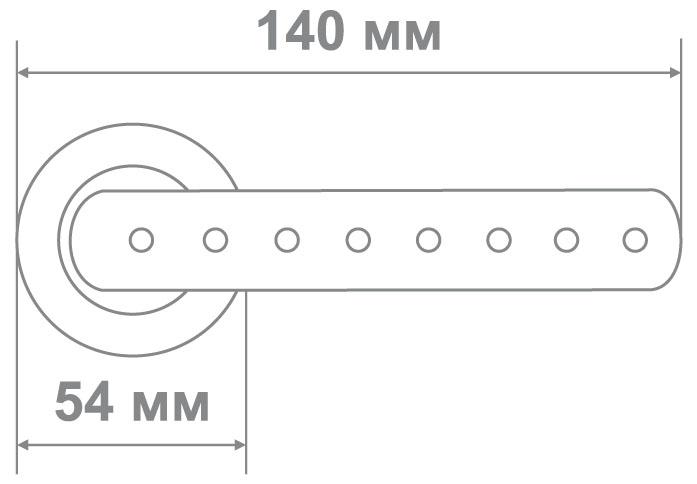 Ручка Аделли 58155 CP хром (10 шт)