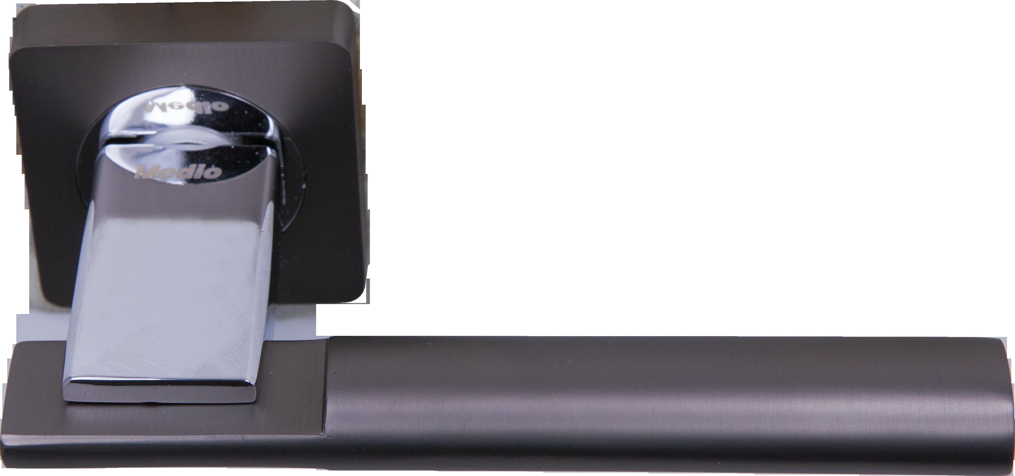 Ручка Медио ML5127-75 MBN/CP графит/хром (20 шт)