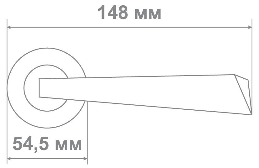 Ручка Медио LM20106 BSN (никель)