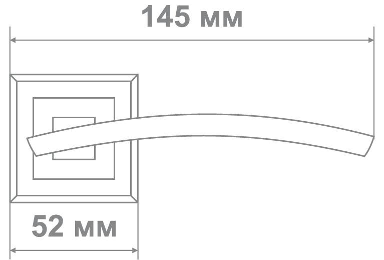 Ручка Локер 52126 BN/CP черный/хром (20 шт.)