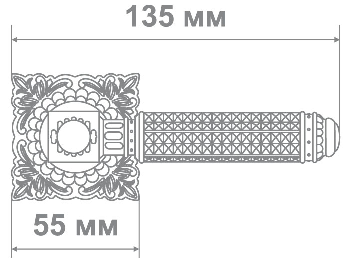Ручка Медио MD1-160 MCF кофе мат. (20 шт)