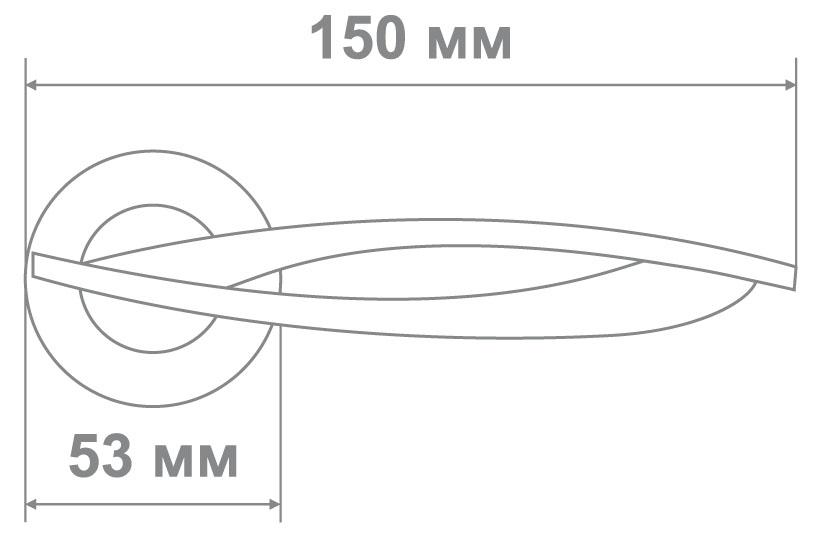 Ручка Медио 428 SC/WOODEN мат.хром/черн.дерево (10 шт)