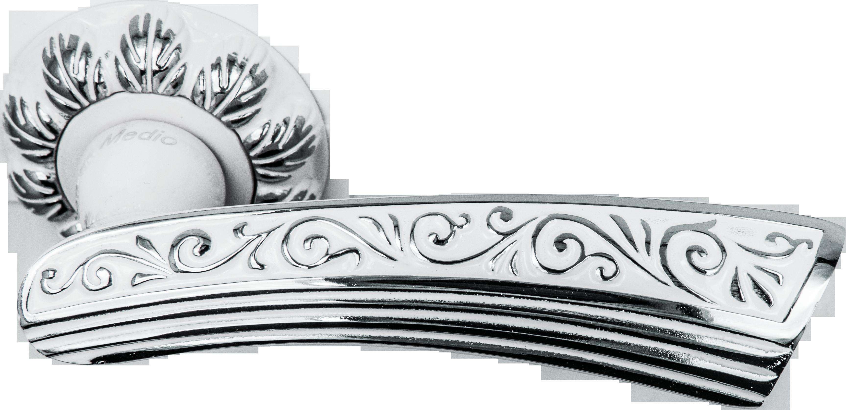 Ручка Медио 55-305 CPW белый/хром (10 шт)