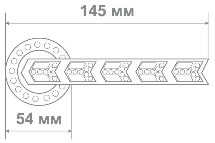 Ручка Аделли 73175-6 CP хром (10 шт)