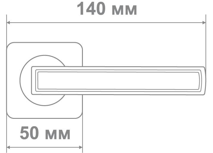 Ручка Медио ML6218-75 MBN/CP графит/хром (20 шт)