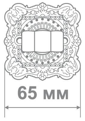 Накладка Аделли BAT61 Antique Nickel антич.никель (50 шт)