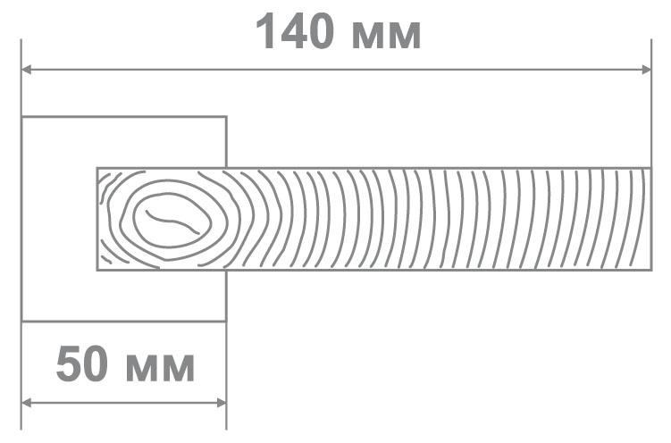 Ручка Leo L3676-30 BLACK NICKEL черный никель (10 шт)
