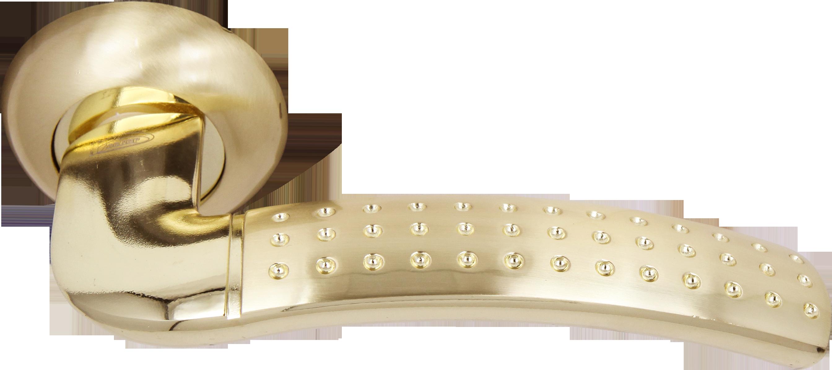 Ручка Локер 55052 SB/GP мат.золото/золото (135 мм) (20 шт.)
