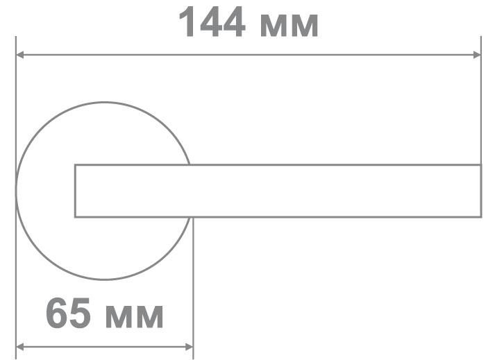 Защелка Джули 894 AC-BK (20 шт)