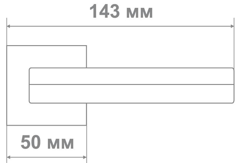 Ручка Медио ML5637-15 CP/BN хром/черный (20 шт)