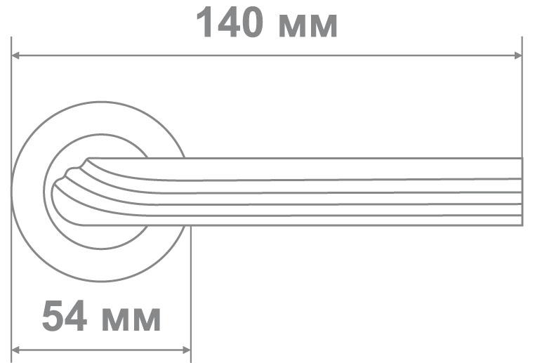 Ручка Локер 55166 CR/SS никель (20 шт.)