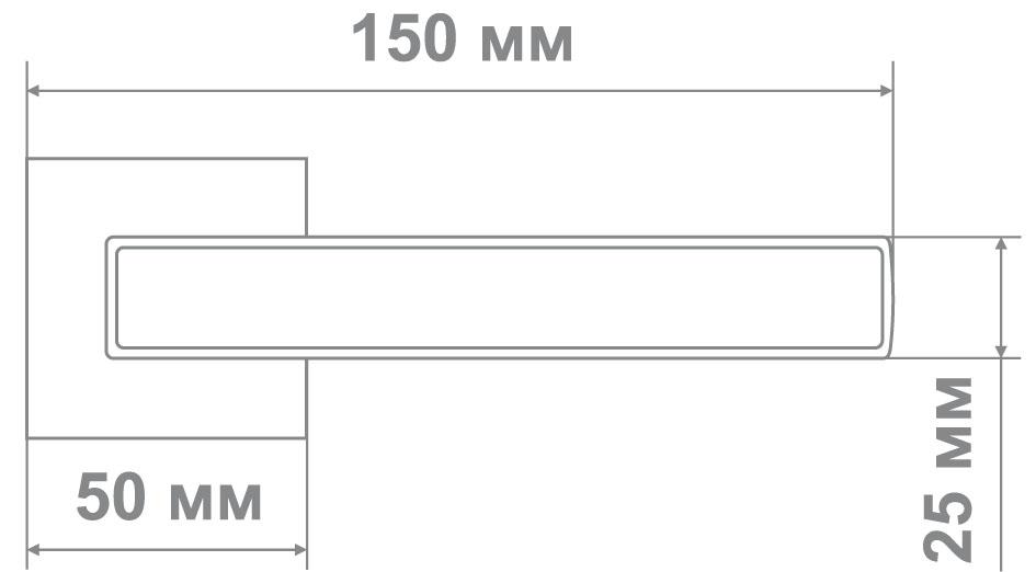 Ручка Медио ML5696-15 BCP хром/черный (20 шт)