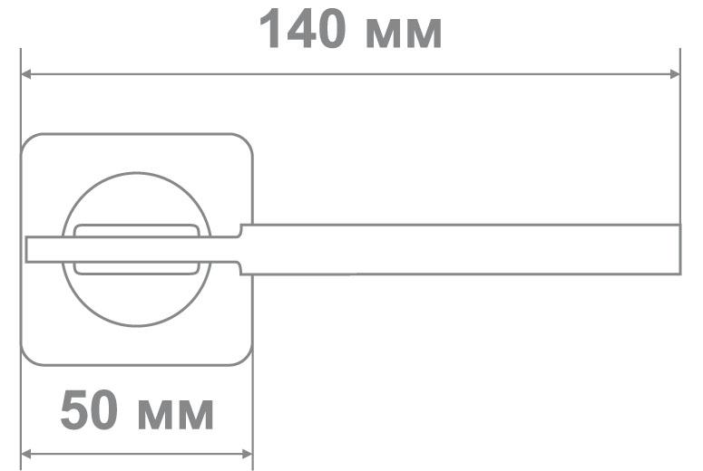 Ручка Медио ML5127-75 MSN/CP мат.никель/хром (20 шт)