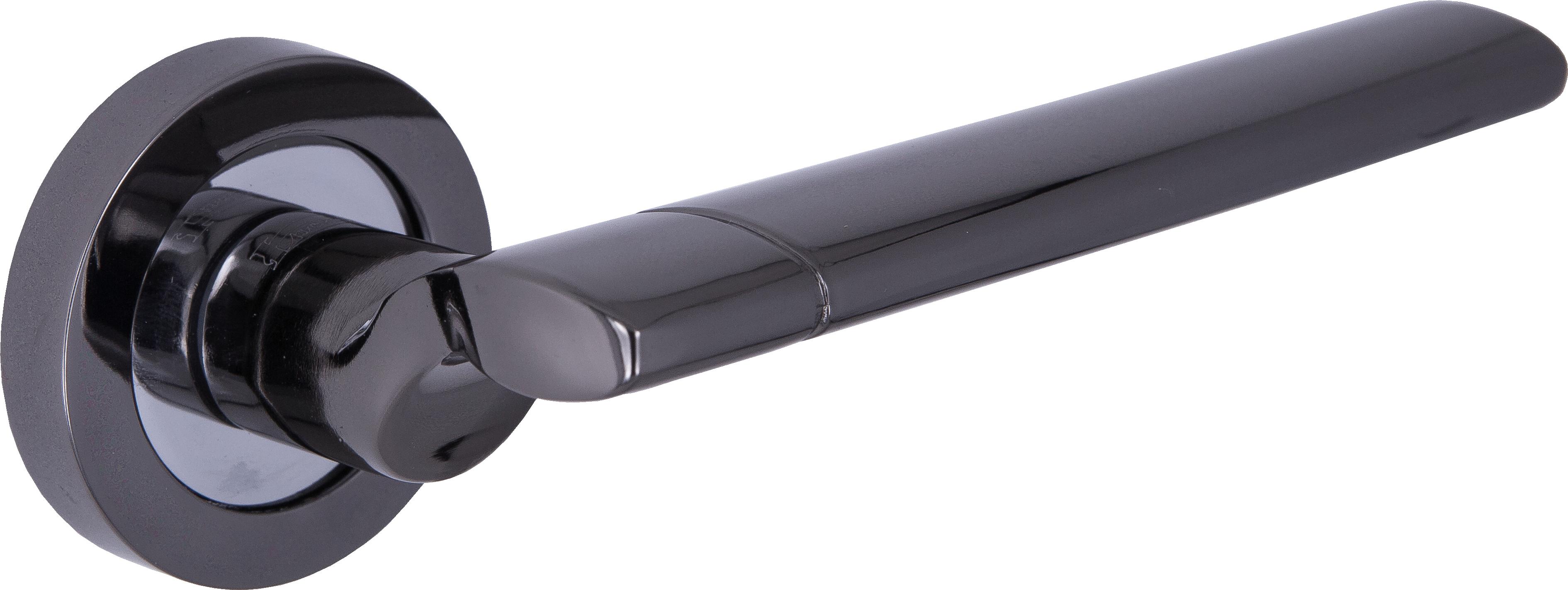 Ручка Локер 53209 BN/CP черный/хром (20 шт.)