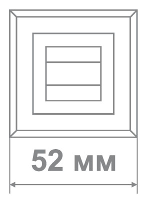 Накладка Локер BAT 52 GP/SS никель/золото (100 шт)