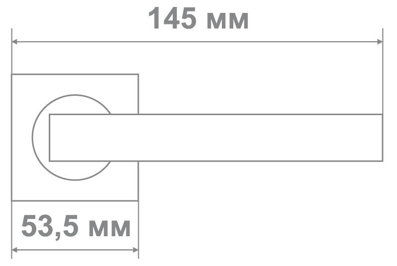 Ручка Медио L09-169 SN/CP никель/хром (20 шт)