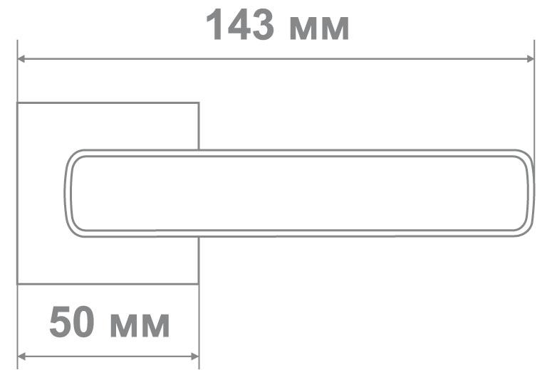 Ручка Медио ML5635-15 CP/WH хром/белый (20 шт)