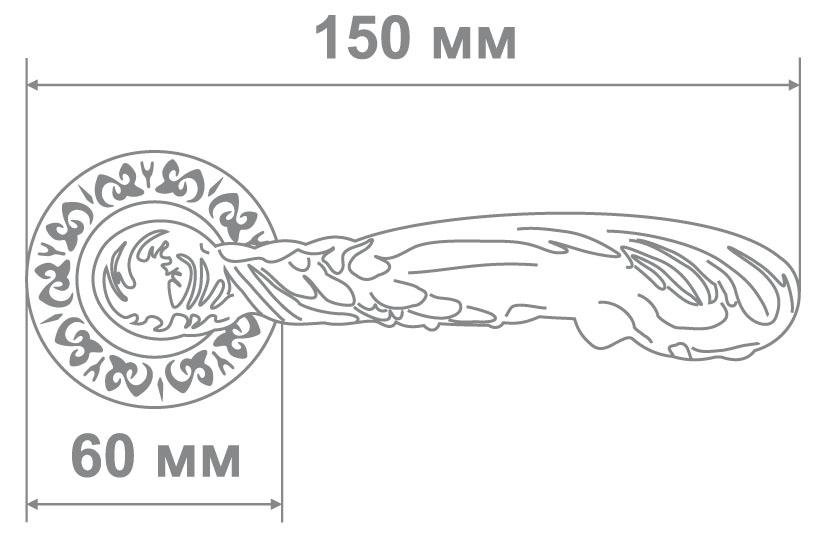 Ручка Alemar A7176-69 MCF кофе мат. (10 шт)