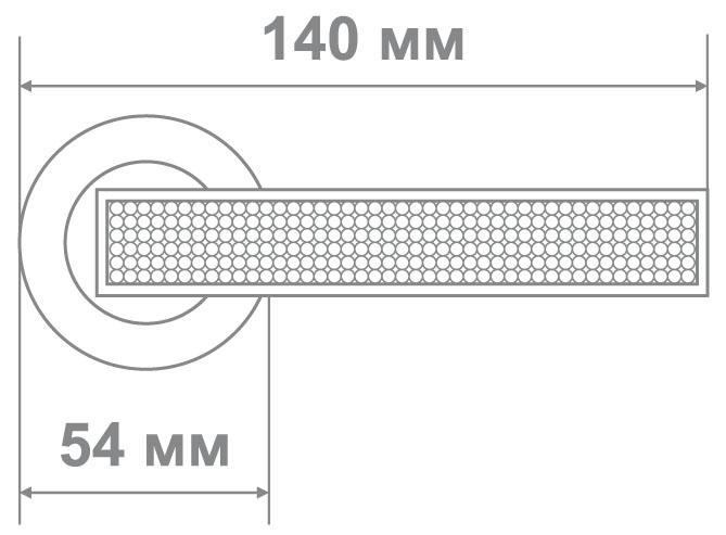 Ручка Аделли 58151 CP хром (10 шт)