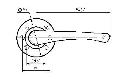 Ручки раздельные ЗЕНИТ РФ4.20 (серебро) (20шт)