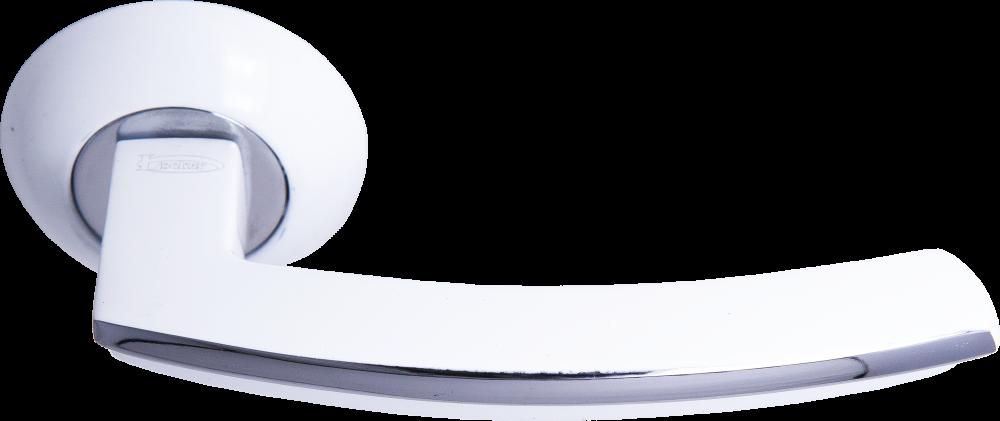 Ручка Локер 55057 CPW хром/белый (20 шт)