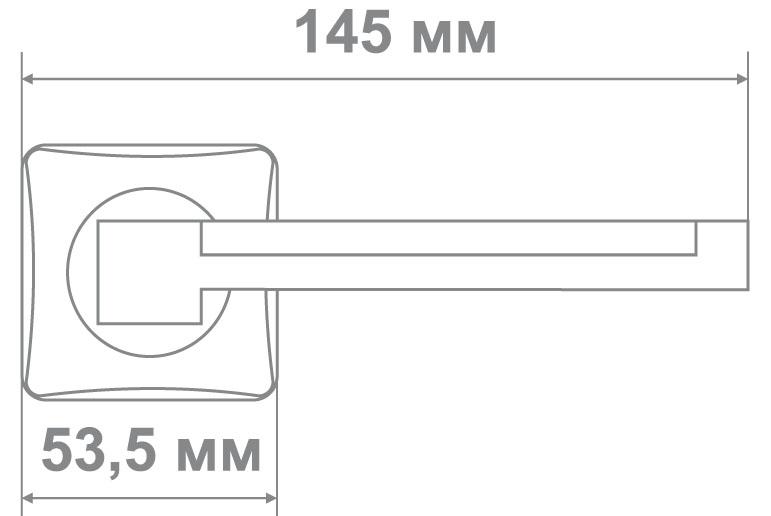 Ручка Медио L36-207 BN/CP черный/хром (10 шт)