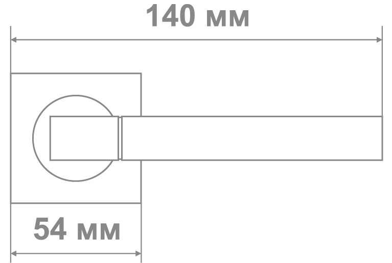 Ручка Медио L09-232 CP хром (20 шт)