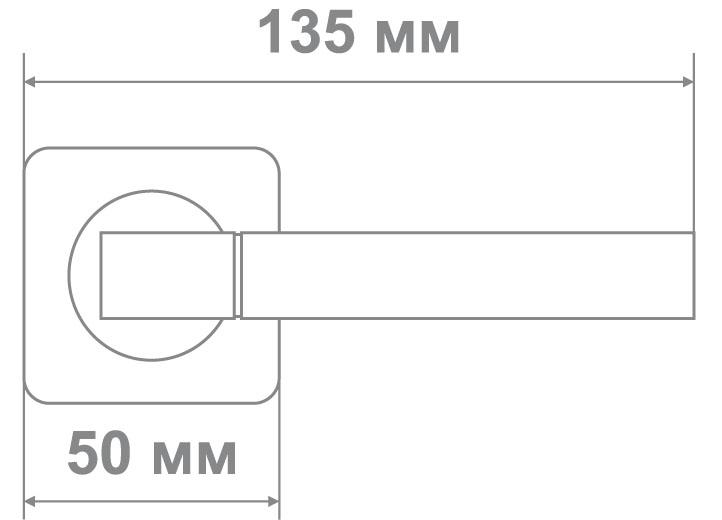 Ручка Медио ML5088-75 MBN/CP графит/хром (20 шт)