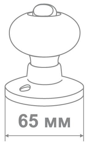 Защелка Джули 6082 AC-BK (30 шт)