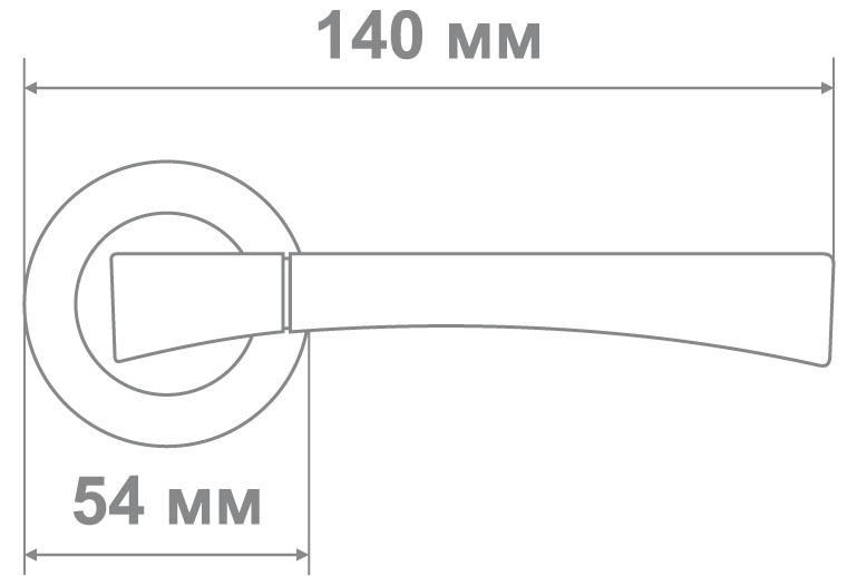 Ручка Локер ZY50-L252 SN/CP никель/хром (20 шт.)