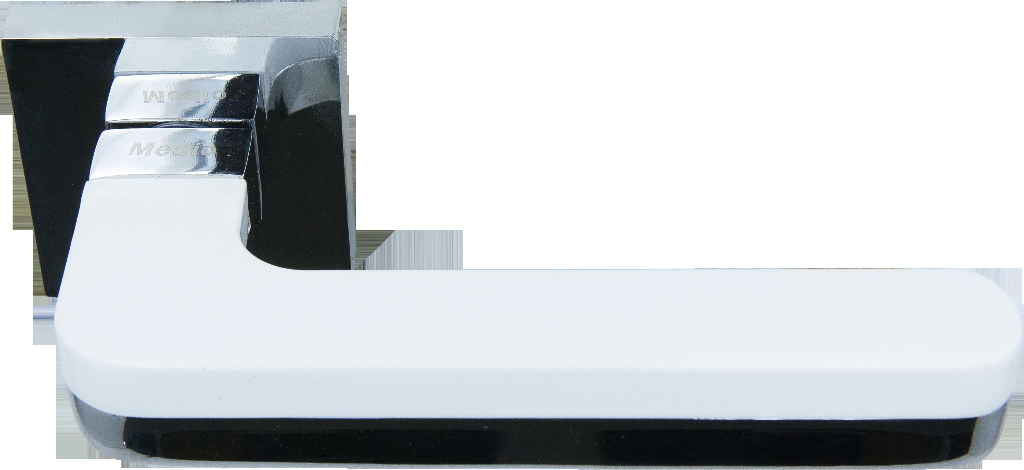 Ручка Медио ML5637-15 CP/WH хром/белый (20 шт)