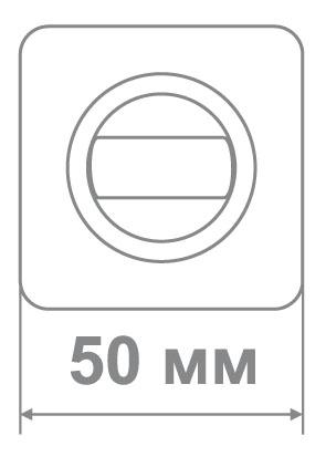 Накладка Медио MLBK75 PW/CP сатин/хром (50 шт)