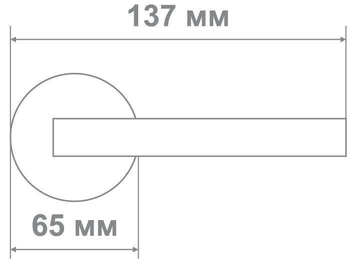 Защелка Джули 835 PB-BK (20 шт)