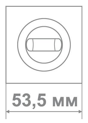 Накладка Медио L09 BAT CP хром (50 шт)