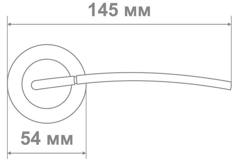 Ручка Медио MD4-202 MCF ТОН 1 кофе мат. (20 шт)