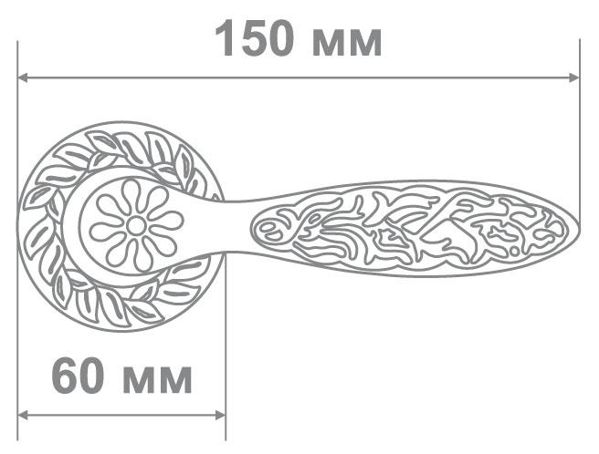 Ручка Аделли 6825-65 BRED антич. золото (10 шт)