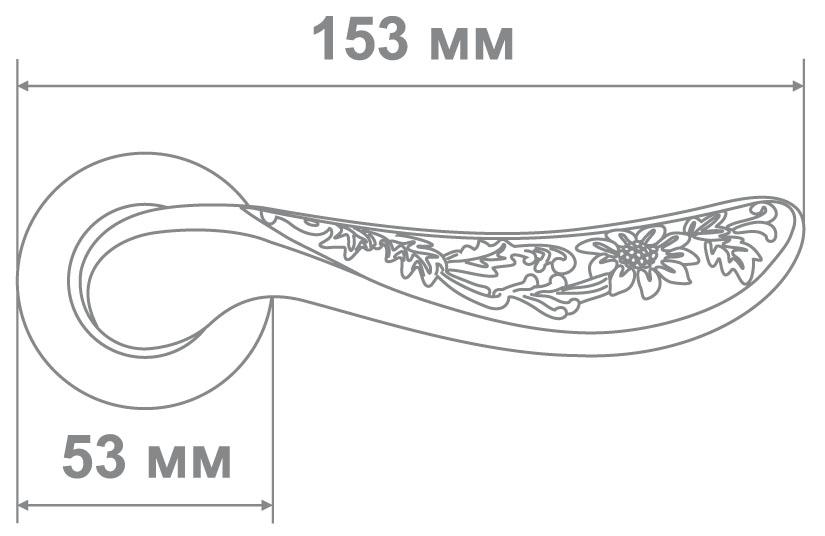 Ручка Медио 306 MABМ мат.бронза (10 шт)