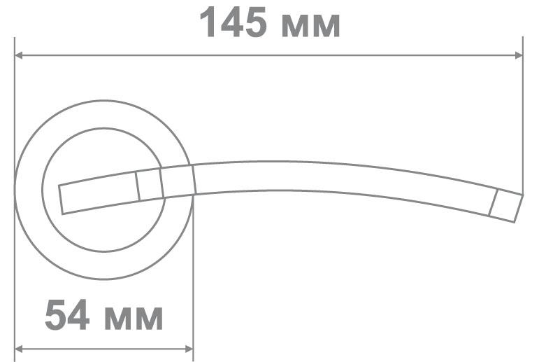 Ручка Медио LM20102 SB/GP (мат.золото/золото)