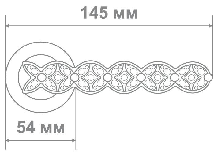 Ручка Аделли 58187-6 CF/WC кофе/белые кристалы (10 шт)