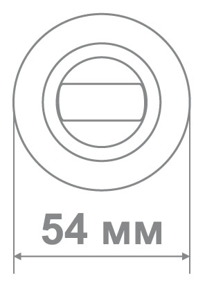 Медио накладка BAT BSN/CP мат.никель/хром (100 шт)