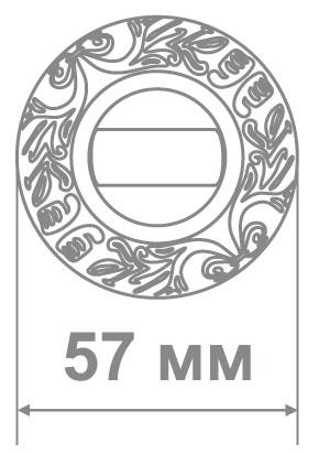 Накладка Локер H59 BAT MCF кофе мат. (100 шт)