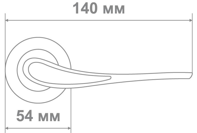 Ручка Локер 55190 GP золото (20 шт.)