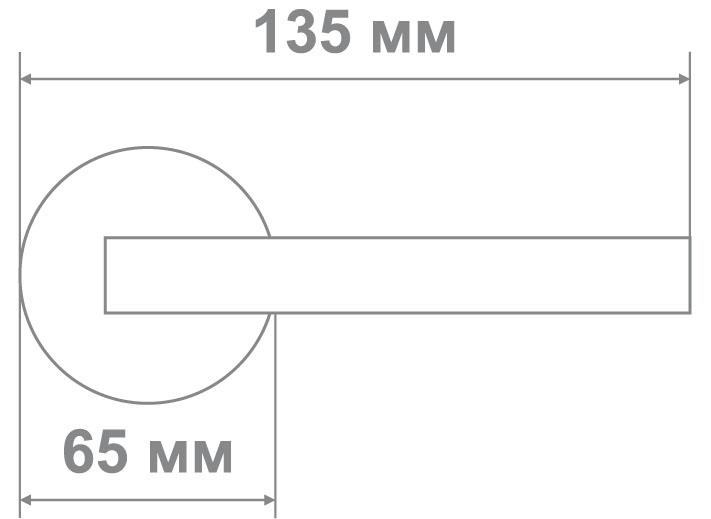 Защелка Locker 891-PS PB (20 шт)