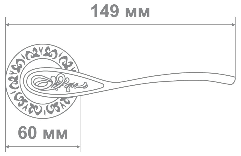 Ручка Alemar A7284-69 AFG антич. золото (10 шт)