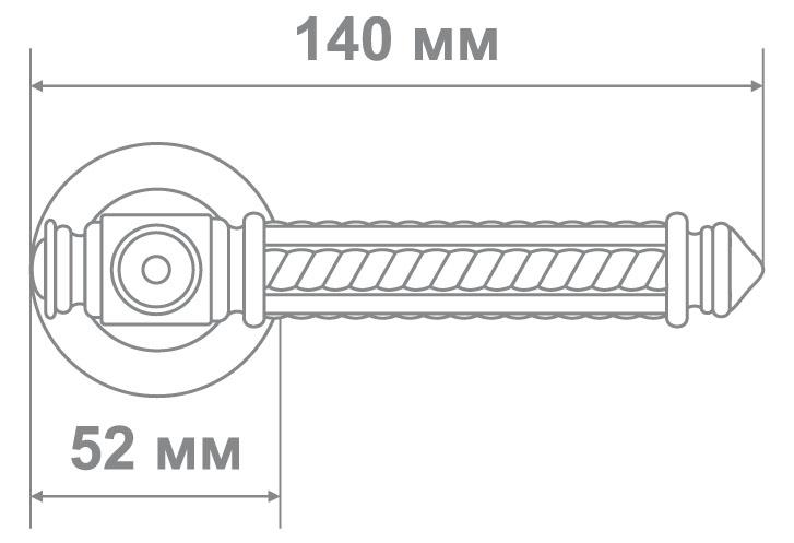 Ручка Медио 424 MABM мат.бронза (10 шт)