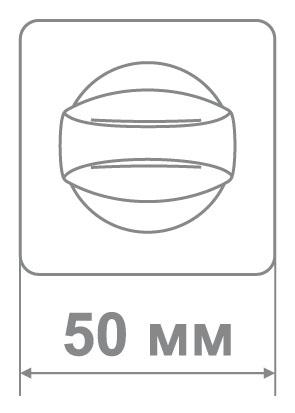 Накладка Медио BAT88 MBN/CP графит/хром (50 шт)