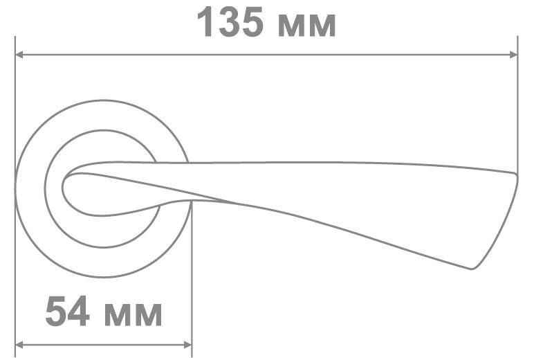 Ручка Локер ZY50-L240 BSN никель (20 шт.)